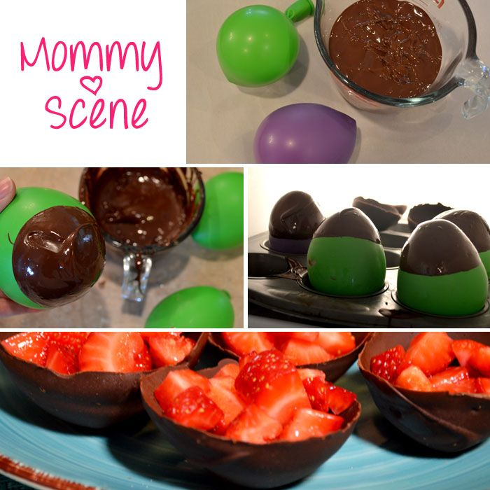 chocolate balloon bowls - Mommmy Scene