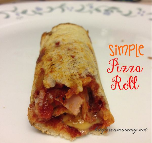 Simple Pizza Roll - Bay Area Mommy
