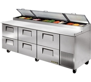 TRUE Refrig Pizza Prep Table,Dallas Restaurant Equipment & Supplies, Convenience Stores Supplies, DFW Discount Restaurant Equipment #restaurantequipment #refrigeration #preptables