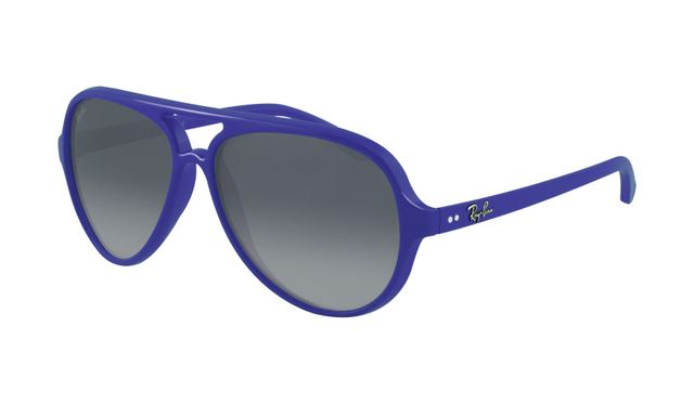 Ray Ban RB4125 Cats Sunglasses Purple Frame Grey Fade