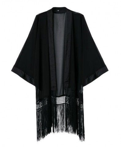 Everyone needs a black kimono. It looks great with everything and you can wear it though every season!