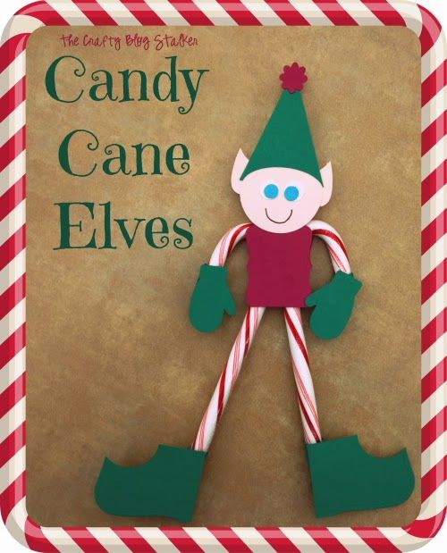 Candy Cane Elves - So Cute for small Christmas Gifts or even a Christmas Ornament!