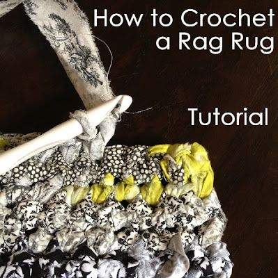 How to crochet a rag rug tutorial. Now, to collect enough fabric. =)