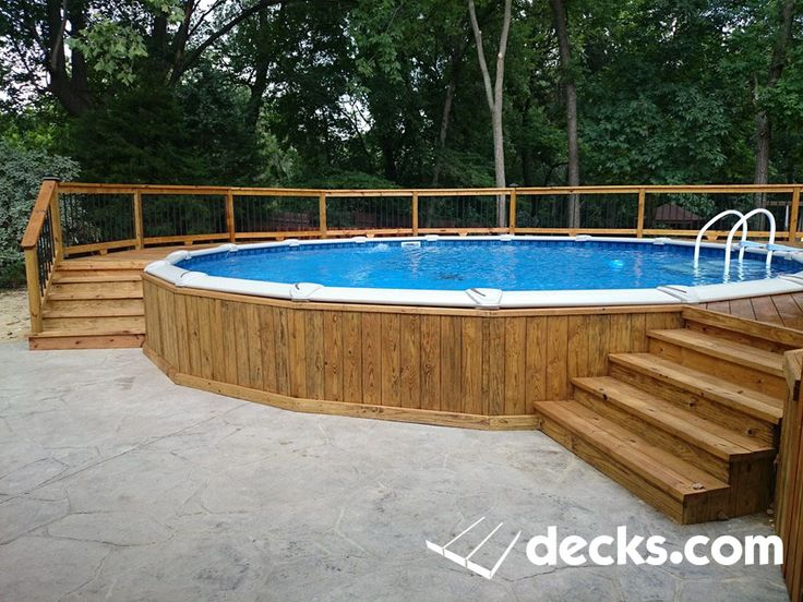 817 best images about pools on pinterest above ground for Above ground pool decks tulsa