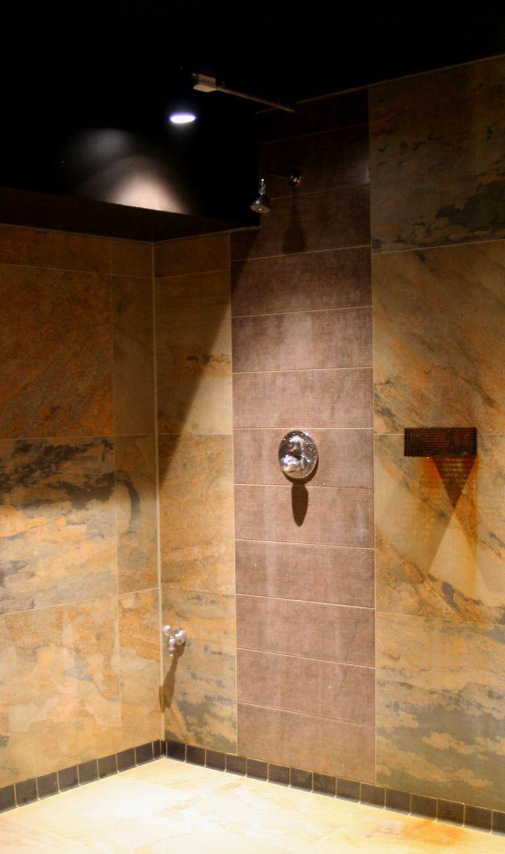 Showers in vintage / rusty design