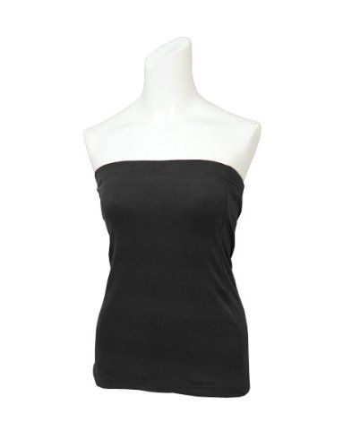 Amazon.co.jp: シンプル無地コットン幅広ゴムチューブトップベアトップインナー: 服&ファッション小物