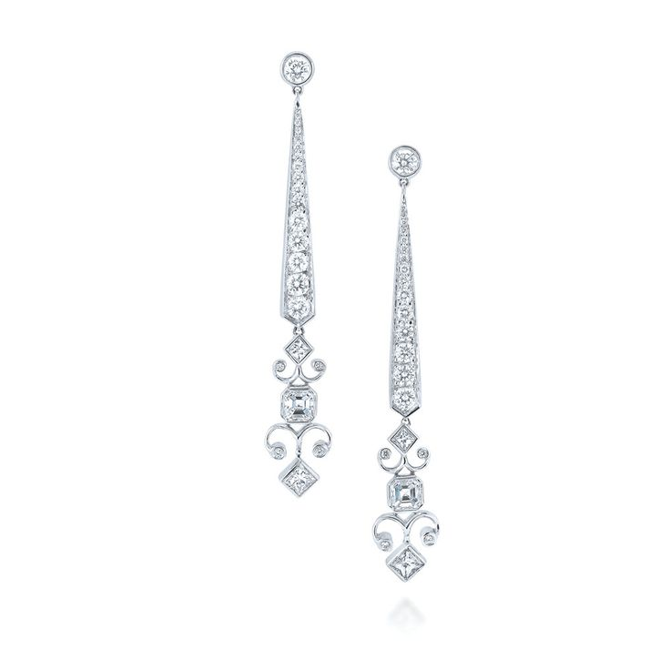 Kwiat: Stiletto diamond earrings from the Brocade …
