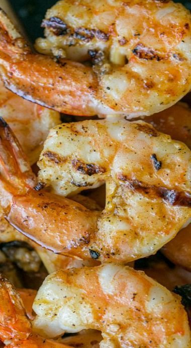 Grilled Garlic Cajun Shrimp Skewers - half marinade. Bbq - flip lots 2015 June (had with corn on Cobb and ceaser salad sundries tomatoes). Used 30 shrimp - 4 skewers