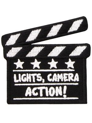 5d25c22e1df01 Become the director you ve always wanted to be with this clapper board patch!  The perfect addition to any film lover s attire