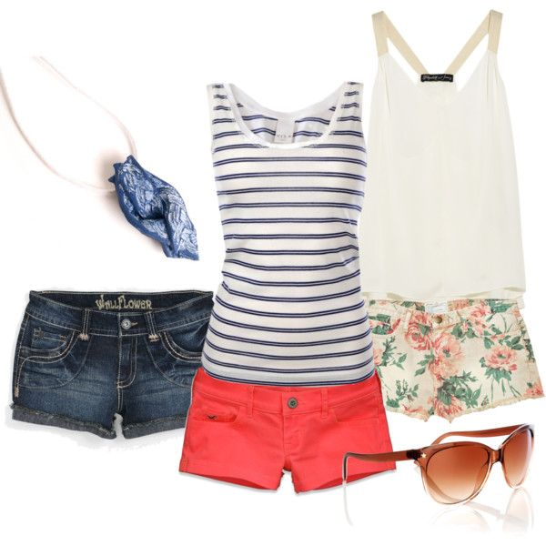 "necklace: https://www.etsy.com/listing/106042717/blue-white-braided-pendant-necklace-navy    pink shorts: http://eu.hollisterco.com/webapp/wcs/stores/servlet/ProductDisplay?parentCategoryId=60550=11558=-1=60555=962358=19158=12552  ""casual beach wear"" by dorijanki on Polyvore"