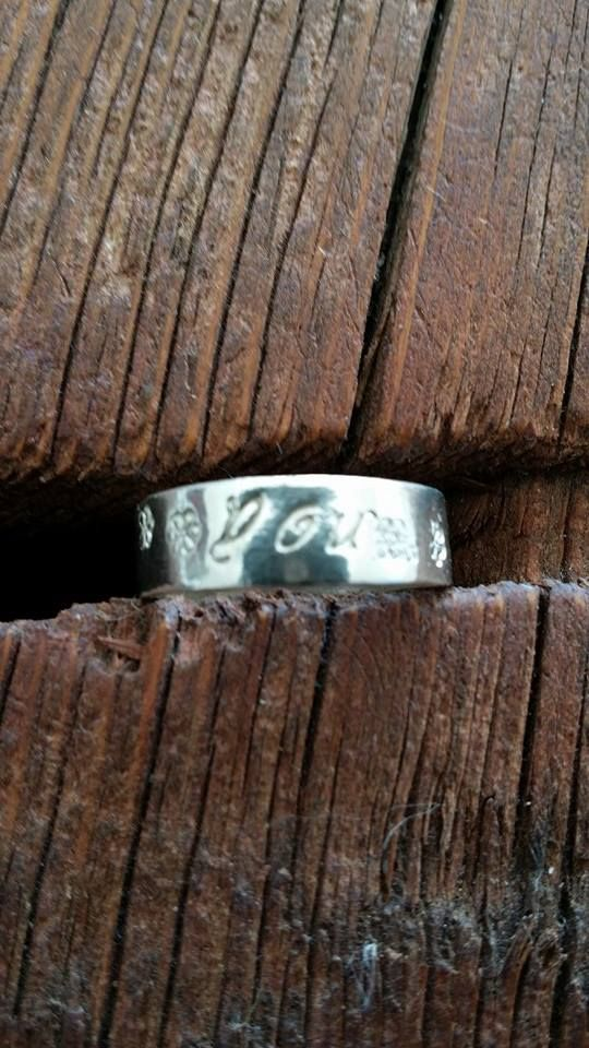 Hand Stamped R Rated sterling silver rings