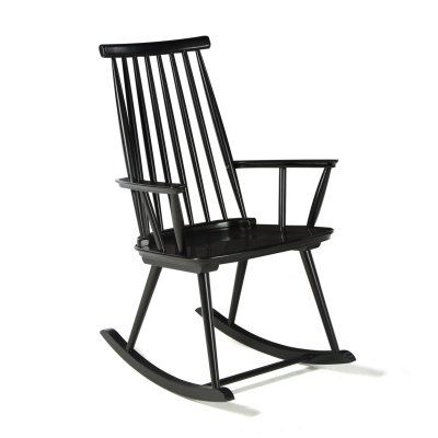 Belham Living Warren Modern Windsor Rocking Chair Black - CS-91289-2-B