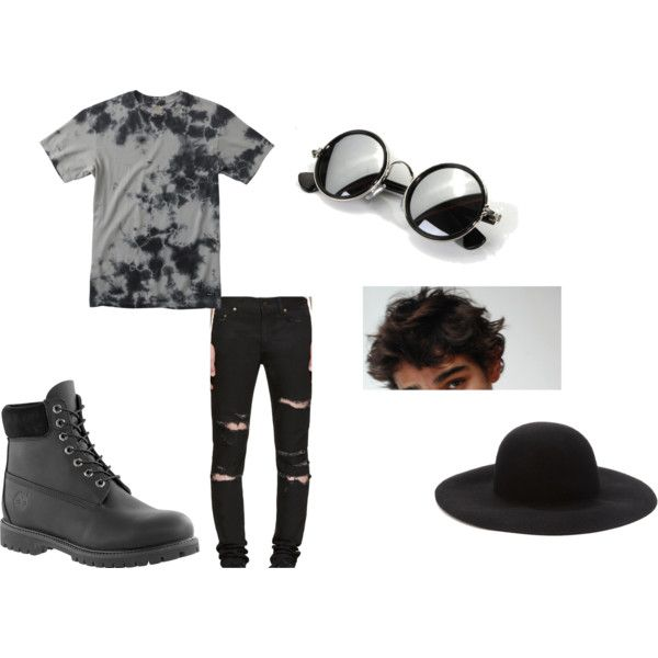Cute Outfits (: by harleydragon on Polyvore featuring polyvore, RVCA, Yves Saint Laurent, Timberland, Forever 21, men's fashion, menswear and clothing