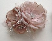 Items similar to Flower Pin - Petite Size - Blush Pink, Champagne, and White - Baby Sash Pin, Ladies Corsage, Flower Pin on Etsy