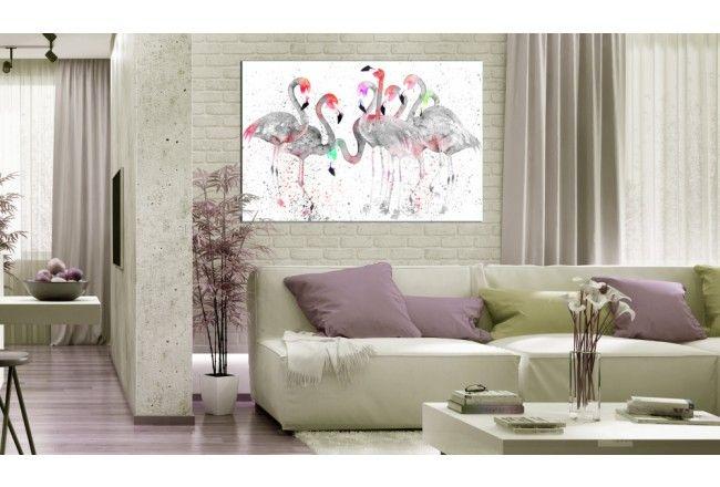 Falamants capturés sur un tableau ? Nous sommes absolument ravis :)  #tableau #tableaux #décorationsmurales #animaux #flamants #décocolorée #bimago