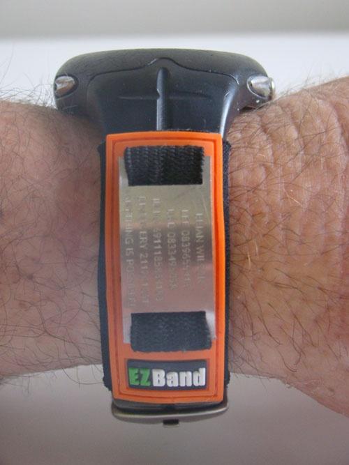 The EZBand Sports ID (Standard 25mm) in Orange.