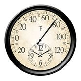 "Found it at Wayfair - Decorative Thermometer with 14"" Clock"