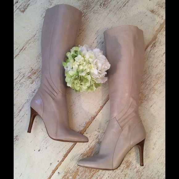 Beautiful Neutral boots Perfect boots for a neutral summer outfit Nine West Shoes Heeled Boots