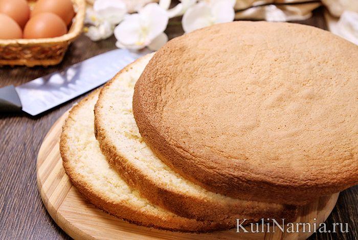 Рецепт пышного бисквита с фото
