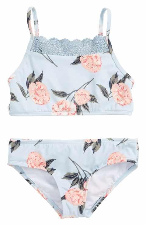 dfc4aa19a6 Billabong Petal Daze Two-Piece Swimsuit (Little Girls & Big Girls ...