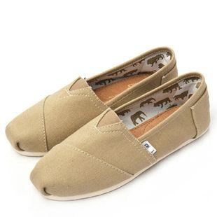 Томс холст обувь, чтобы помочь низким мелкая рот плоские туфли JM пару холст обувь ленивый обувь счастлив Мэри Специальный - Taobao