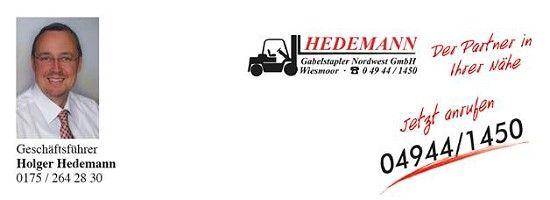 Wollen Sie auch einen Partner in Ihrer Nähe? Gabelstapler Hedemann ist für Sie da! - Hedemann Gabelstapler Nordwest in Ostfriesland