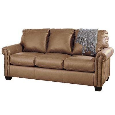 Darby Home Co Alper DuraBlend Full Sleeper Sofa Upholstery: Almond