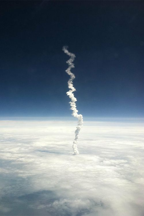 Last Space Shuttle Launch Captured from an Airplane Window Seat                                                                                                                                                                                 More