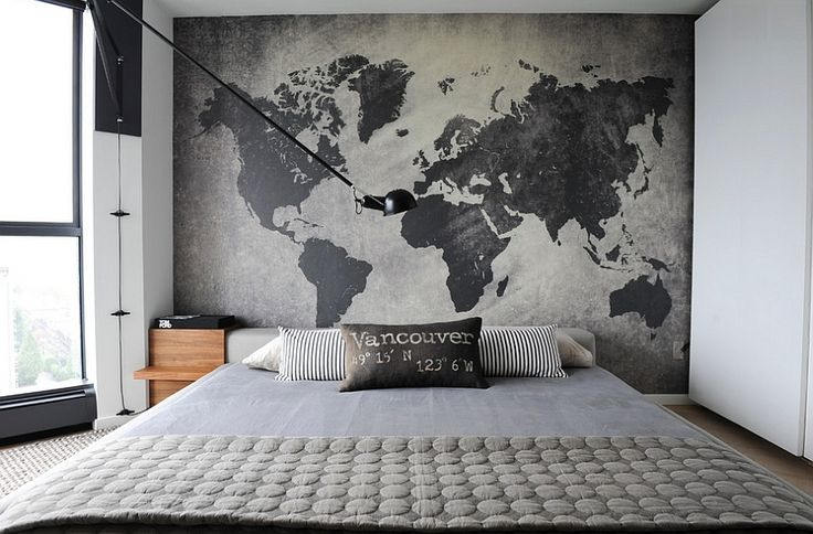 Restrained industrial style with a unique accent wall [Design: Gaile Guevara]