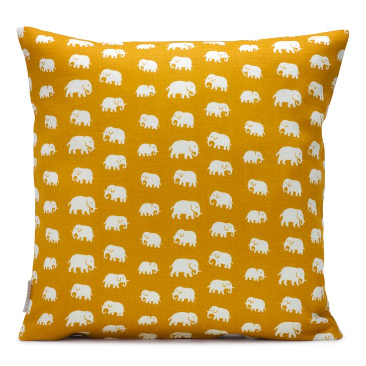 """A couple of these in different colors... The pattern is called """"Elephant (Elefant)"""", by Estrid Ericson for Svenskt tenn."""