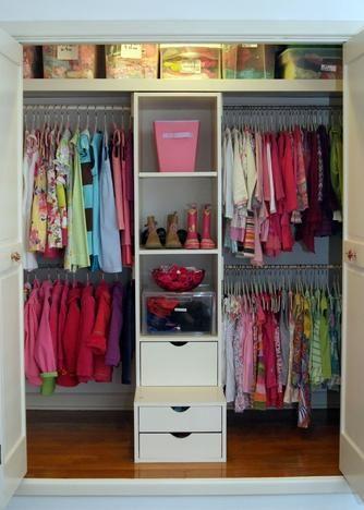 organizing girl's closets | Girl's Closet - After