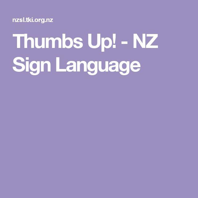 Thumbs Up! - NZ Sign Language