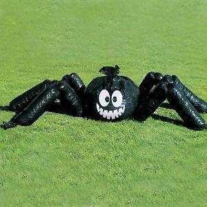 Arana-de-Halloween-Jumbo-Decoracion-Fiesta-Bolsa-de-cesped-jardin-al-aire-libre-bolsa-de-hoja