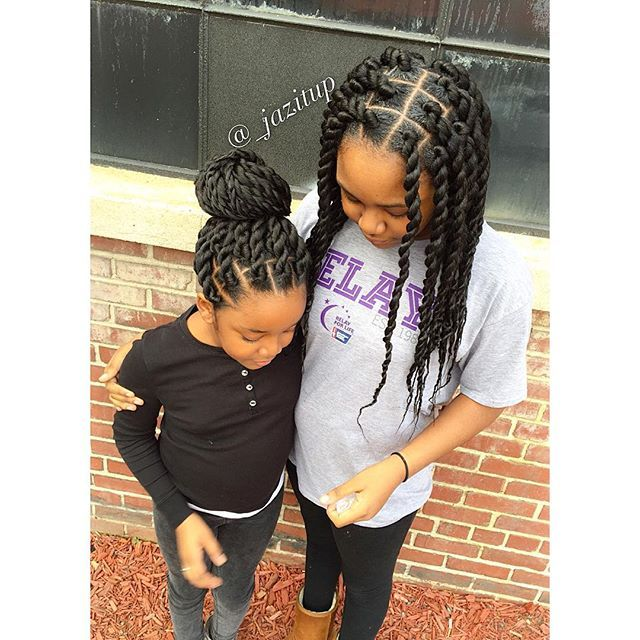 SISTER HAIR DUO  MEDIUM JUMBO TWIST!!!... CALL AND MAKE YOUR APPOINTMENT TODAY…