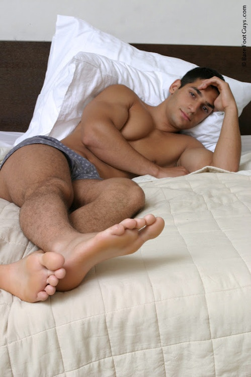 White guys in bed
