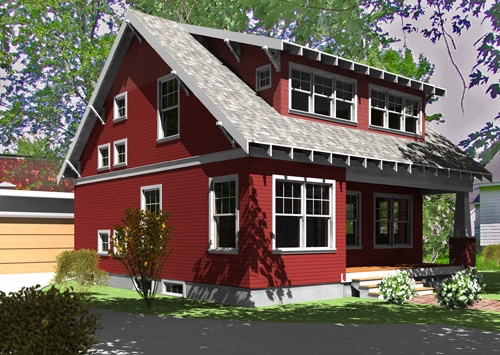 Red exterior color house exterior color pinterest Classic red paint color