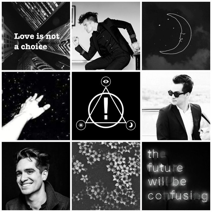 Mcr Quotes Wallpaper Brendon Urie Mood Board Black And White Aesthetic