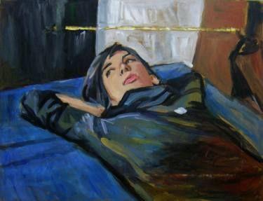 "Saatchi Art Artist Helena Janecic; Painting, ""Lying on Ikea sheets"" #art"