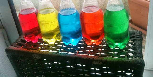 montessori color bottles for color discrimination