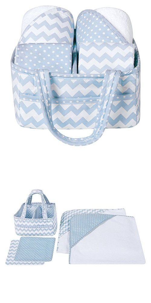 Trend Lab 5 Piece Baby Bath Gift Set, Blue Sky
