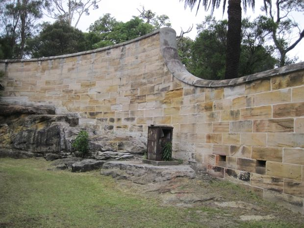 Convict built wall - Goat Island
