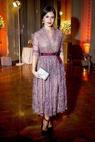 Miroslava Duma. Love the color, the lace, the understated elegance. She is my girl style crush!