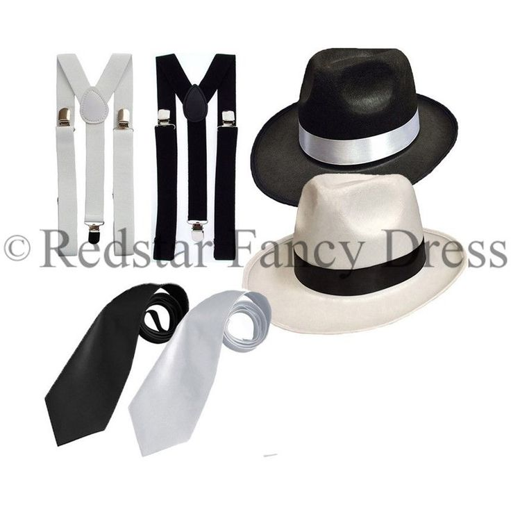 ADULT GANGSTER DELUXE TRILBY HAT BRACES TIE 1920'S GATSBY BUGSY MALONE AL CAPONE in Clothes, Shoes & Accessories, Fancy Dress & Period Costume, Fancy Dress   eBay