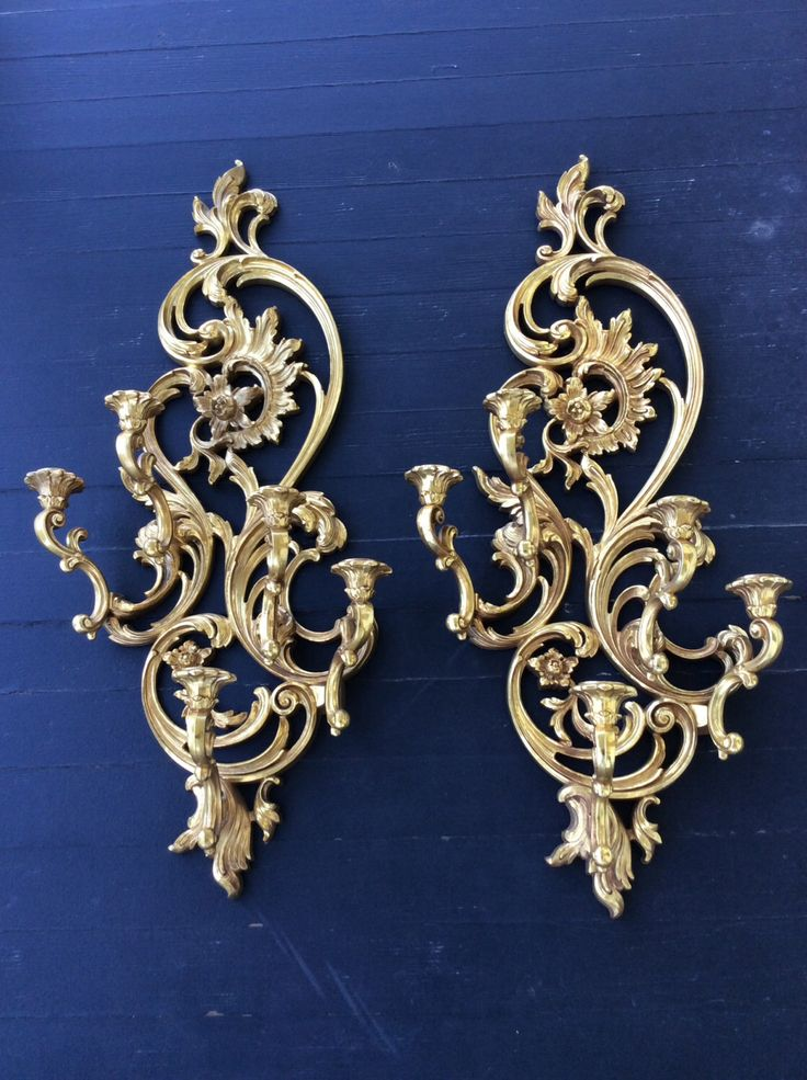 Vintage Rare, Gold Gilt, Five Arm, Large, Ornate, Wall Sconce, Syroco / Dart, Hollywood Regency Decor, Wedding Decor, French Country, Glam by YellowHouseDecor on Etsy https://www.etsy.com/listing/255371977/vintage-rare-gold-gilt-five-arm-large