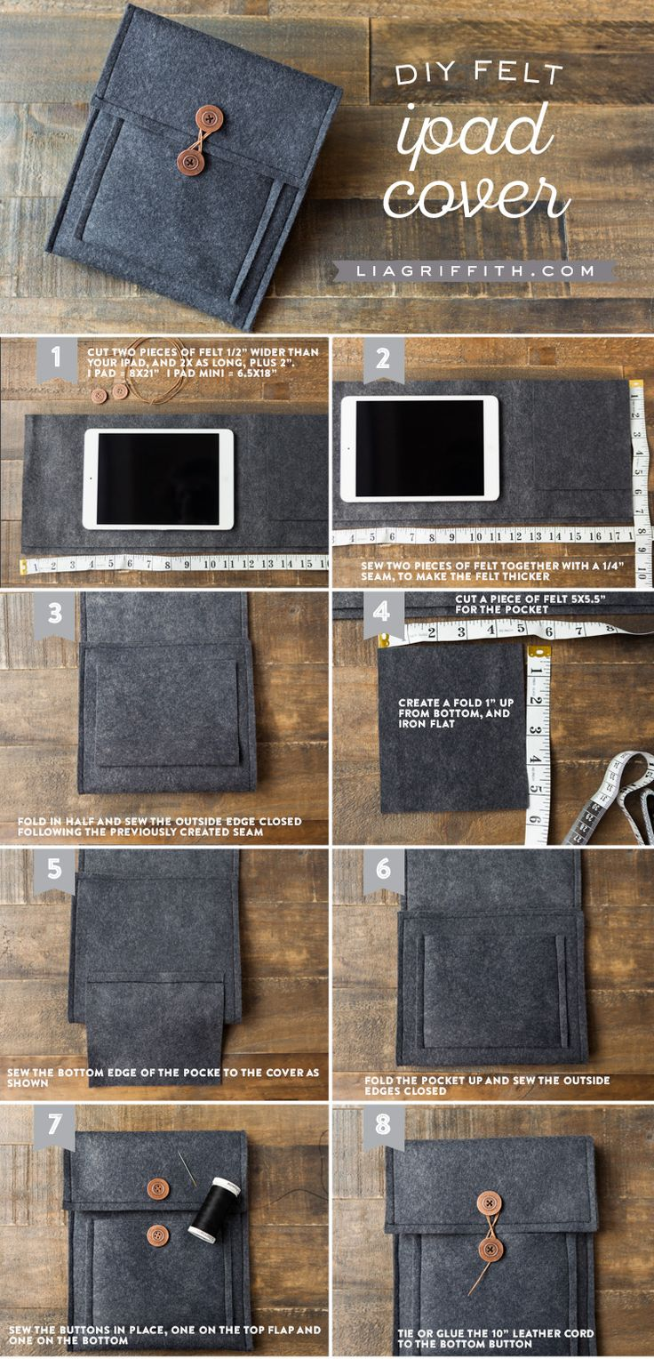 Make Your Own Felt Tablet Cover