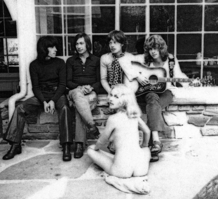 A groupie called Angel at Oriole House, the Stones' LA headquarters.