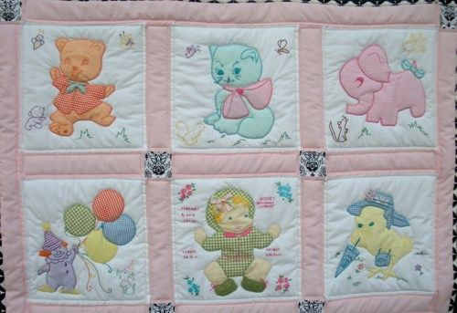 Pictures Of Baby Quilts Vintage Baby Quilt Baby Girl