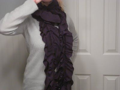 Cool knit fabric scarf to make!
