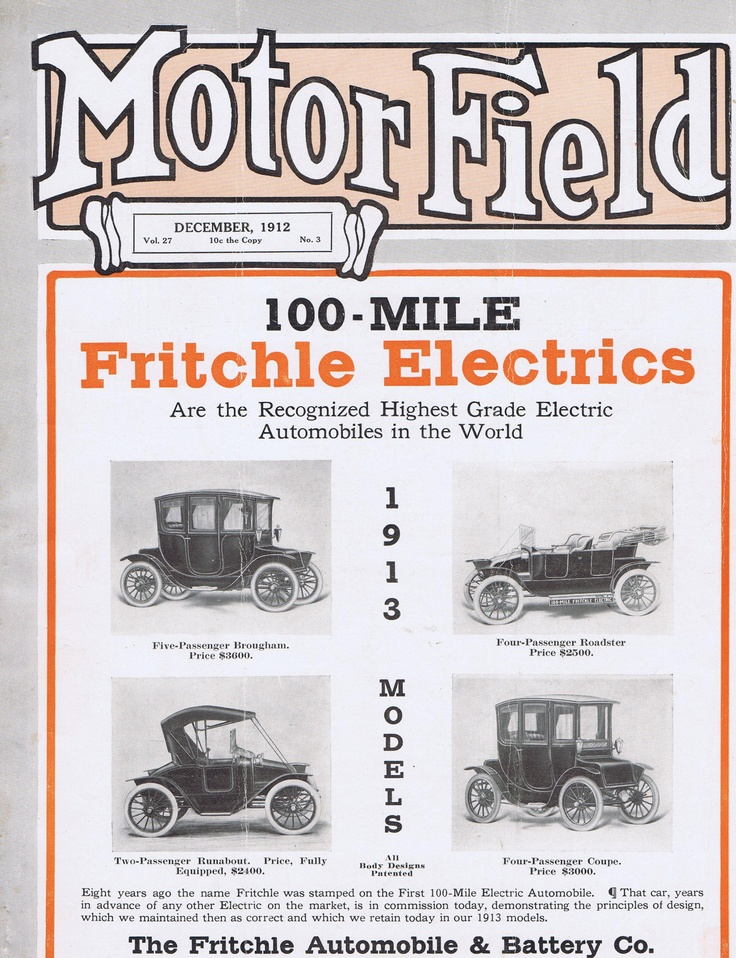 7 best Fritchle Electric Car Ads images on Pinterest | Electric cars ...