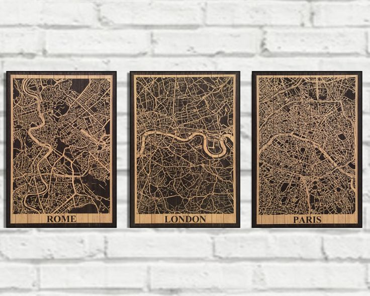 wood europe capital city map print set special offer discount wood map wall art rustic panel